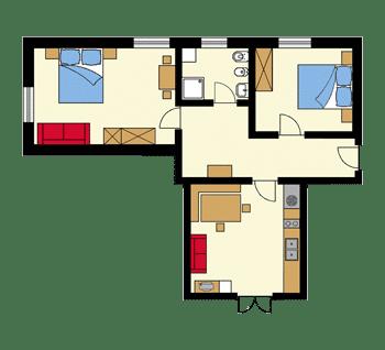 Pianto dell'appartamento