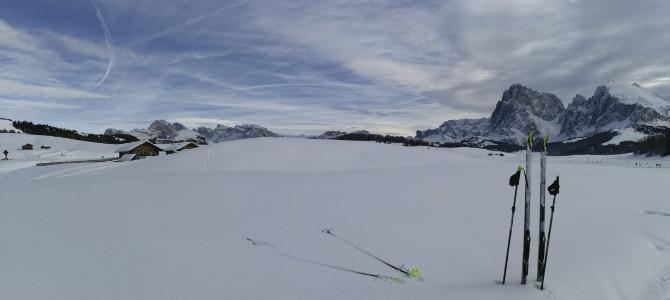Langlaufen auf der Seiser Alm in Südtirol