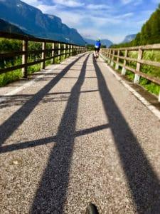 Radweg entlang der Etsch im Unterland